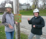 PFM Teens Putting up Signs Around Back Cove