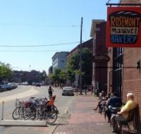 Additional bike corral photo courtesy of Rosemont Market & Bakery